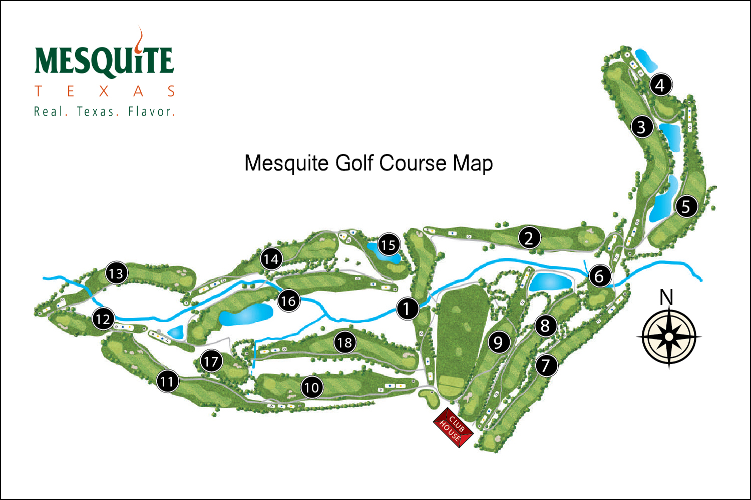 Course Layout Mesquite Golf Club